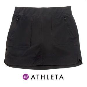 Athleta Black Athletic Skort w/ Zip Pockets - 10